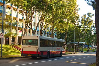 Woodlands, Singapore - Image: SMRT bus service 911 in front of Block 878 Woodlands Street 82, Singapore