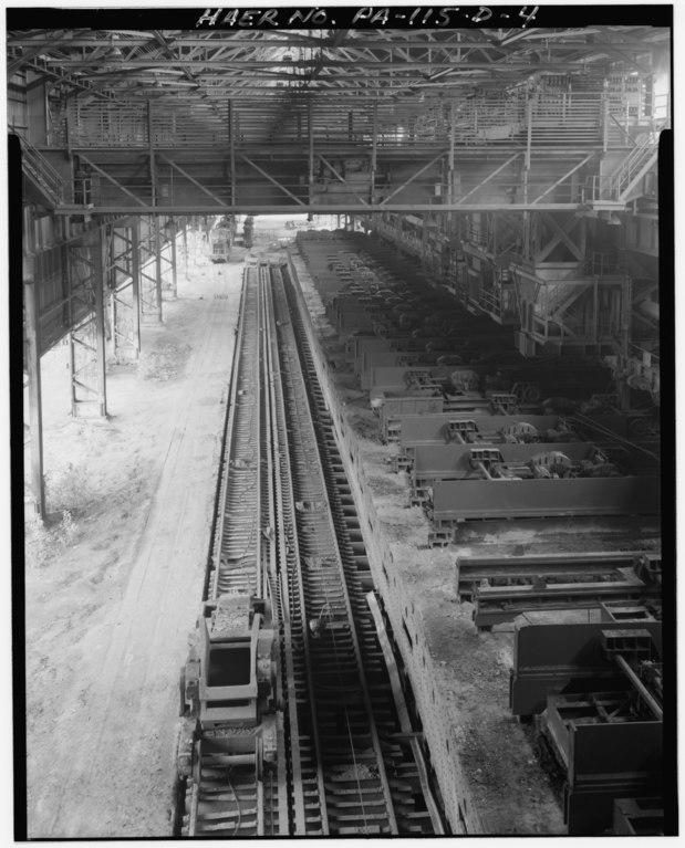 Steel Track U S Steel : File southward overhead view of ingot transfer tracks and