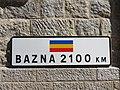 Saint-Cyr-les-Vignes - Panneau Jumelage Bazna 2100 km.jpg