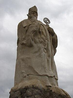 Trophimus of Arles - Statue of Trophimus.  Chapelle de Saint-Trophime, Buis-les-Baronnies.