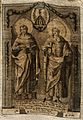 Saint Cosmas and Saint Damian. Engraving on silk, 1793. Wellcome V0033174.jpg