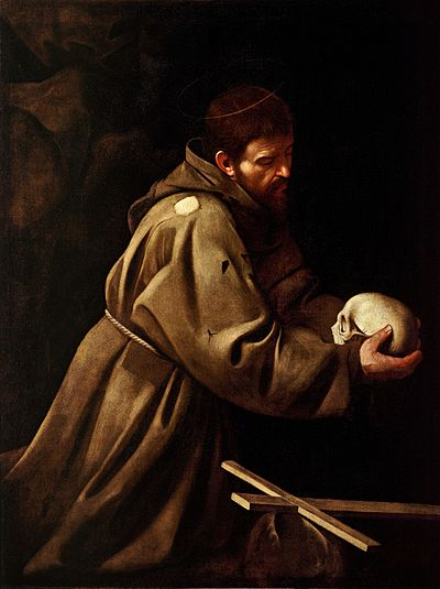Le Testament de Saint François d'Assise 400px-Saint_Francis_in_Prayer-Caravaggio_(c.1606)