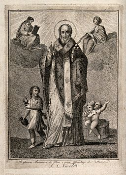 Saint Nicholas of Myra and Bari. Engraving. Wellcome V0032755