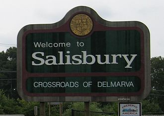 Salisbury, Maryland - Sign at northern entrance on U.S. Route 13.