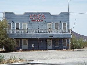 Salome, Arizona - 1908 Hotel located on 42370 Vicksburg Road.