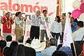 Salomon Jara y Andrés Manuel López Obrador 6to día de campaña en Zimatlan.JPG