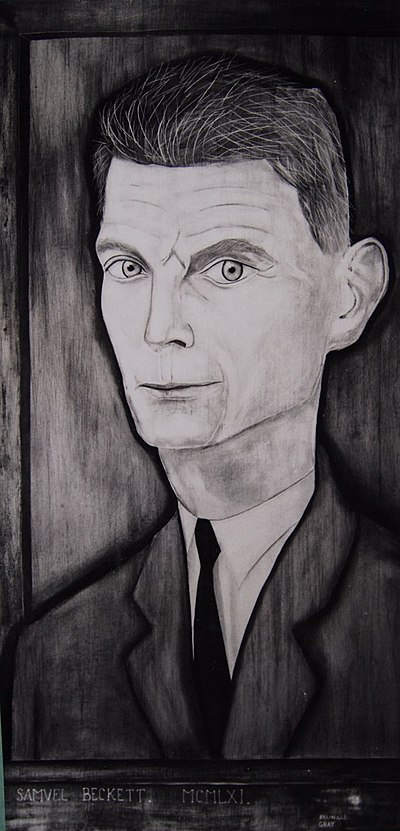 1=Portrait on wood panel of Irish writer Samuel Beckett. Painted by Reginald Gray from life in Paris 1961.