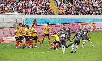 Heredia, Costa Rica - Heredianos play Saprissa, a rival.
