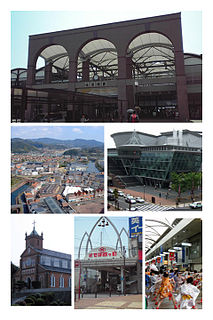 Core city in Kyushu, Japan