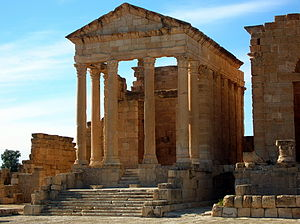 Minerva - Temple of Minerva in Sbeitla, Tunisia