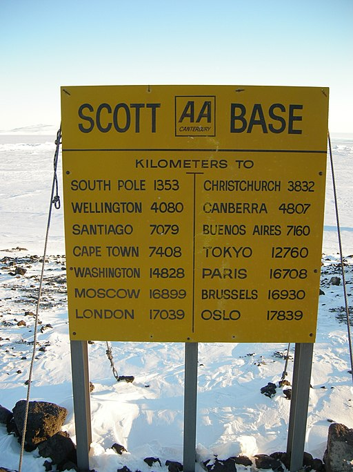 Scott Base Antarctica Sign