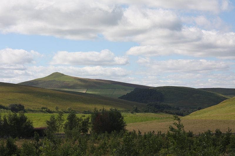 View from the B6399, about 8 miles south of Hawick. Scottish Borders, Scotland.
