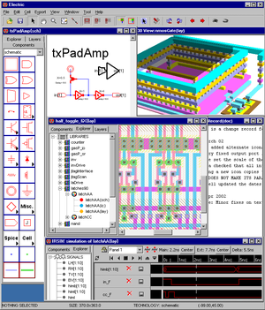 Electric (software) - Screenshot Electric VLSI Design System