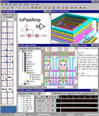 Electric (software) - Screenshot Electric VLSI Design System