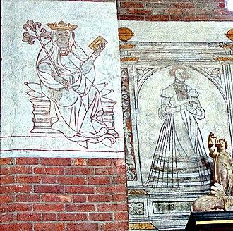 St. Bendt's Church, Ringsted - Image: Sct Bendt kalkmaerier 2