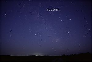 Scutum (constellation) - The constellation Scutum as it can be seen by the naked eye.