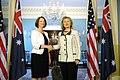 Secretary Clinton Shakes Hands With Australian Prime Minister Gillard (5510083265).jpg