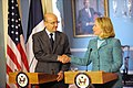Secretary Clinton Shakes Hands With French Foreign Minister Juppe (5806602322).jpg