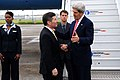 Secretary Kerry Chats With Ambassador Rivkin Before Departing Paris.jpg