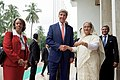 Secretary Kerry Greets Bangladeshi Prime Minister Sheikh Hasina Wazed in Dhaka (28692596243).jpg