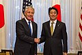 Secretary of Defense Hagel Greets Japan's Prime Minister Abe - Flickr - East Asia and Pacific Media Hub (2).jpg