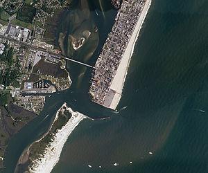 Delmarva Peninsula - Sediment in motion at Ocean City