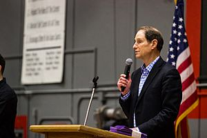 Ron Wyden - Wyden at a town hall in 2017