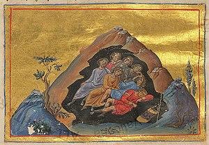 Seven Sleepers - Illuminated manuscript from Menologion of Basil II.