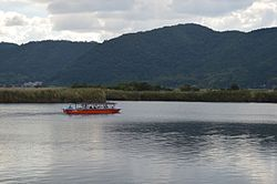 Shiga Nishinoko Lake Sightseeing Boats 2013-10B.JPG