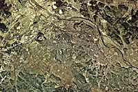 Shirakawa city center area Aerial photograph.1975.jpg