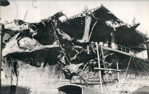 Shokaku Coral Sea battle damage 1