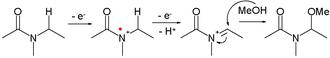 Electrosynthesis - Shono oxidation