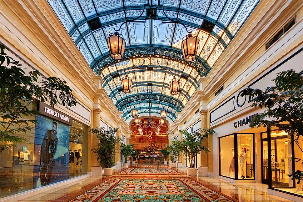 Shops in the Bellagio casino, Las Vegas