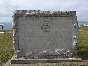 HMS Sidon (P259) - The Sidon Memorial on Portland