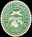 Siegelmarke Gemeinde Grünbach Amtsh. Auerbach W0314276.jpg