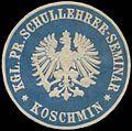 Siegelmarke K.Pr. Schullehrer-Seminar Koschmin W0345609.jpg