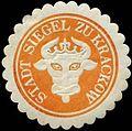 Siegelmarke Stadt Siegel zu Krakow W0309741.jpg
