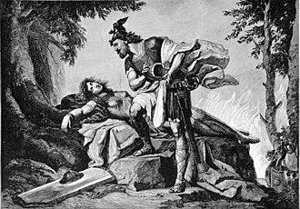 Siegfried (opera) - Siegfried awakens Brünnhilde - Otto von Richter, (1892)