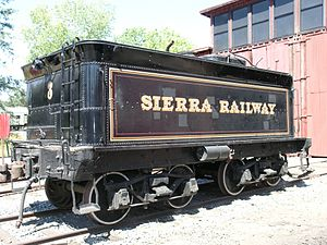 Tender (rail) - Image: Sierra Railway 3 Tender