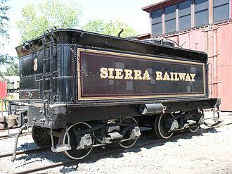 Tender (rail) - Image: Sierra Railway 3 Tender