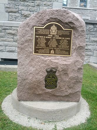 Ottawa City Hall - Korean War Memorial in Veterans' Grove beside Ottawa City Hall