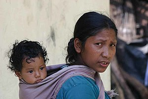 Mother - Sikkimese mother with child