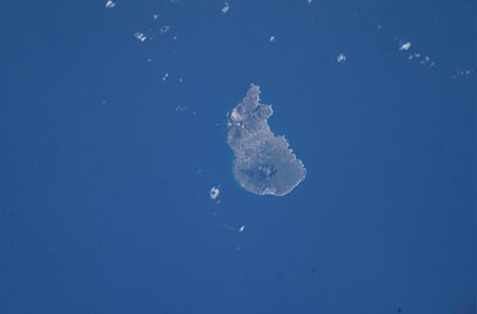 Sint Eustatius as photographed from the International Space Station