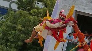 Charak Puja - Sirimanu festival at Vizianagram, Andhra Pradesh