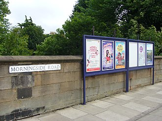 Morningside Road railway station - Image: Site of former Morningside Road Station, Edinburgh