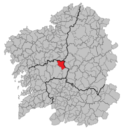 Situation of Agolada within Galicia