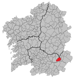 Manzaneda - Image: Situacion Manzaneda