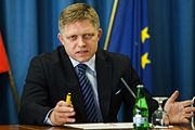 Slovak Prime Minister Robert Fico during the press conference.jpg