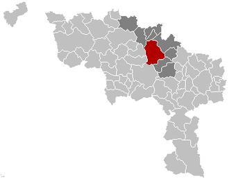 Soignies - Image: Soignies Hainaut Belgium Map