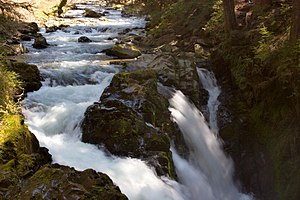 English: Sol Duc Falls, a waterfall in Olympic...